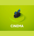 cinema isometric icon isolated on color vector image