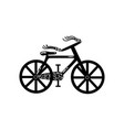 vintage bicycle silhouette vector image