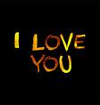 Golden inscription i love you vector image