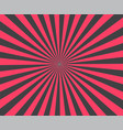 modern stripe rays red background brust vector image