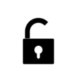 opened lock icon vector image
