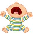 Cartoon baby boy crying vector image