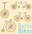 Vintage Retro Bicycle vector image