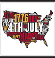 44th july us independent day typography word art d vector image