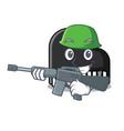 army piano character cartoon style vector image