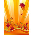 Autumn season background vector image vector image