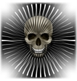 background with skull and circular volume texture vector image vector image