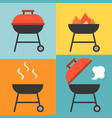 barbecue and grill icons set vector image vector image