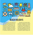 beach holidays information list vector image vector image