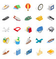 beach toy icons set isometric style vector image vector image