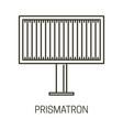 billboard design or prismatron banner for outdoor vector image vector image