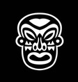 black and white mask sticker vector image
