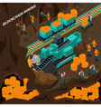 Blockchain Mining Isometric Concept vector image vector image