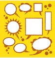bubbles for text on yellow background vector image