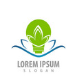 bulb lotus logo concept design symbol graphic vector image