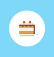 cake icon sign symbol vector image vector image