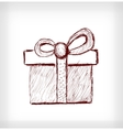 Christmas gift with bow vector image vector image