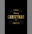 christmas tree card wishes text ribbon black vector image vector image