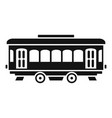 city old tram icon simple style vector image