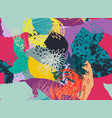 colorful collage contemporary seamless vector image
