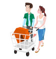 couple buying a house vector image vector image