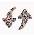 crowd people shape arrow direction vector image