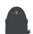 cute big fat crow vector image