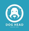 cute dog head logo circles design template vector image vector image