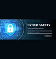 cyber safety the blue modern background vector image