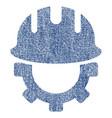 development hardhat fabric textured icon vector image vector image