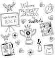 Doodle of black white school vector image vector image