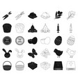 easter is a christian holiday blackoutline icons vector image