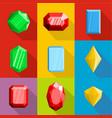 embellishment icons set flat style vector image vector image