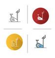 exercise bike icon vector image vector image