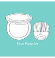 face powder and brush vector image