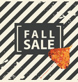 fall sale banner with bright autumn poplar leaf vector image vector image