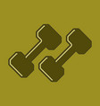 flat icon on stylish background dumbbells vector image vector image