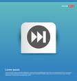 forward icon - blue sticker button vector image vector image