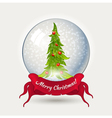 Glass ball with Christmas tree vector image vector image