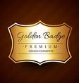 golden premium badge label design element vector image vector image