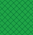 Green abstract geometric square seamless pattern vector image