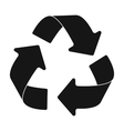 Green recycling sign icon in black style isolated vector image vector image