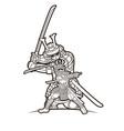 group samurai japanese warrior ronin vector image vector image