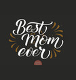 hand drawn lettering - best mom ever elegant vector image vector image