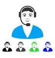 happy call center operator icon vector image vector image