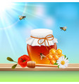 honey colored composition vector image vector image