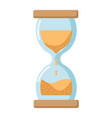 hourglass flat icon business and deadline vector image vector image