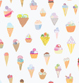 Ice cream seamless pattern funny design vector image vector image