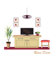 interior design modern red living room trendy vector image vector image