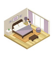 isometric hotel service concept vector image vector image